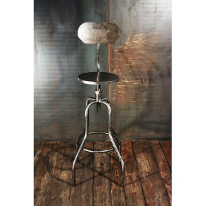 tabouret bar industriel chaises haute tabouret d atelier acier meubles atelier vintage tabourets. Black Bedroom Furniture Sets. Home Design Ideas
