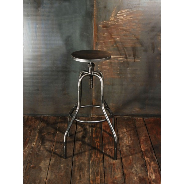 tabouret d atelier tabouret bar industriel chaises haute acier meubles atelier vintage tabourets. Black Bedroom Furniture Sets. Home Design Ideas