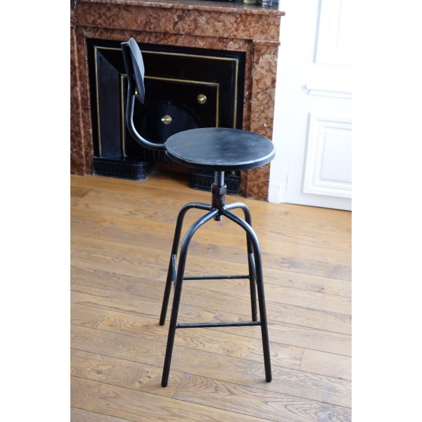 tabouret de bar mod le a05 tabouret industriel. Black Bedroom Furniture Sets. Home Design Ideas