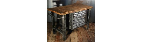 meubles style industriels ancien lyon mobilier industriel. Black Bedroom Furniture Sets. Home Design Ideas